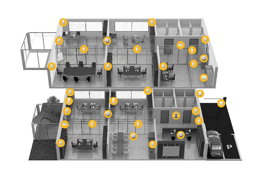 Zabezpečení firmy - cena a typová instalace